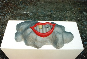 A hill that laughs, 1996, aluminium, 80x30x28cm, private collection