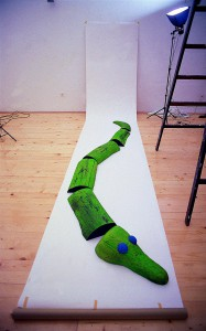 The Crocodile, 1996, colored wood, l=600cm, available