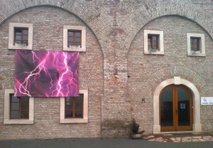 Equilibrium, 2006, print on tarpaulin, 400x300cm, available