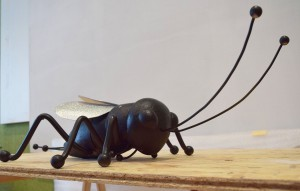 Field cricket, 2015, kinetic sculpture (colored polyester and metal), h=80cm, Natural History Museum Zagreb