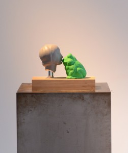 The Princess and the Frog, 2011, polyester, plaster, h=20cm, privat collection