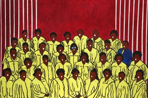 Gospel choir, 2011, acrylic on canvas, 80x60cm, available