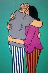 The Hug, 2012, acrylic on canvas, 120x80cm, available