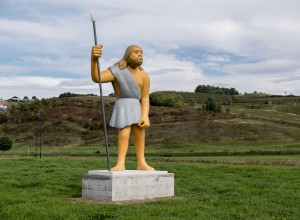 Neanderthal man, 2014, colored polyester and iron, h=700cm, public sculpture at Sveti Križ Začretje