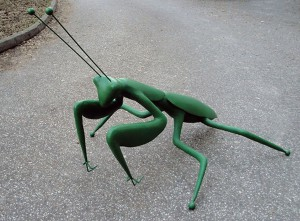 The Preaying mantis, 2015, colored polyester and metal, h=110cm, Natural History Museum Zagreb