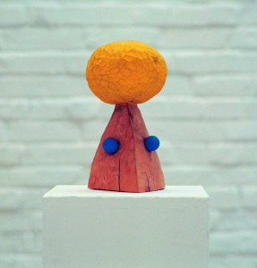 Sun is shining, 1993, colored wood, h=40cm, private collection