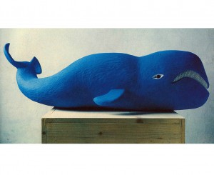 The Whale, 1995, colored wood, h=60cm, private collection