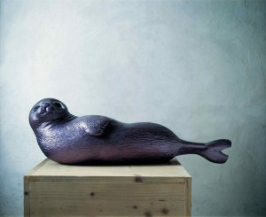 The Seal, 1995, wood, h=45cm, private collection