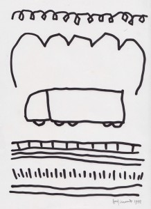 Truck, 1993, marker pen on paper, 21x30cm, available