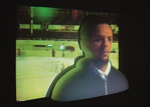 Video Disco Skating Ring, 2001, video projection on styophoam, h=120cm, private collection