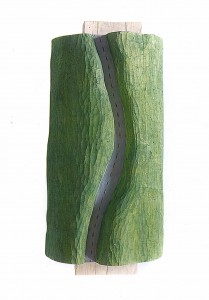 If there is no River, take the Road, wood, h=70cm, private collection
