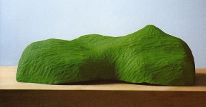 Green Iceberg, 1995, colored wood, h=35cm, private collection