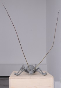 Longhorn beetle, 2015, kinetic sculpture (colored polyester, wood and metal), h=130cm, Natural History Museum Zagreb